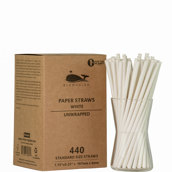 *Intro Sale: Blowholes Standard Size Paper Straws - NOT Individually Wrapped - 25% Off