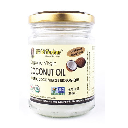 Wild Tusker Organic Virgin Coconut Oil - Beauty Size