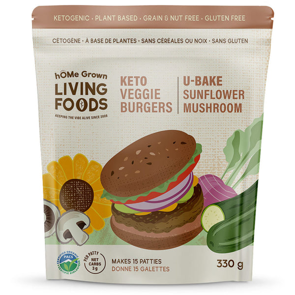 *New hOMe Grown Living U-Bake Veggie Burgers