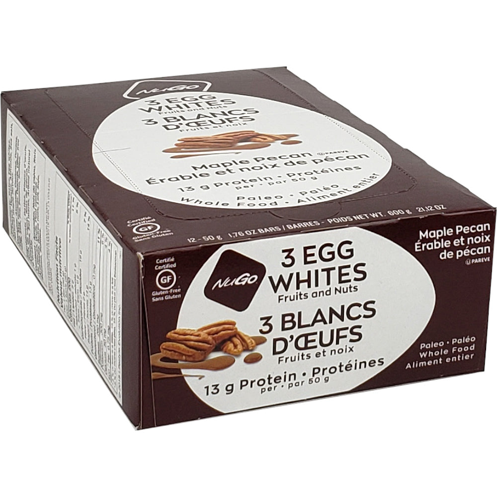 NuGo Nutrition Egg White Protein Bars [12-Pack]