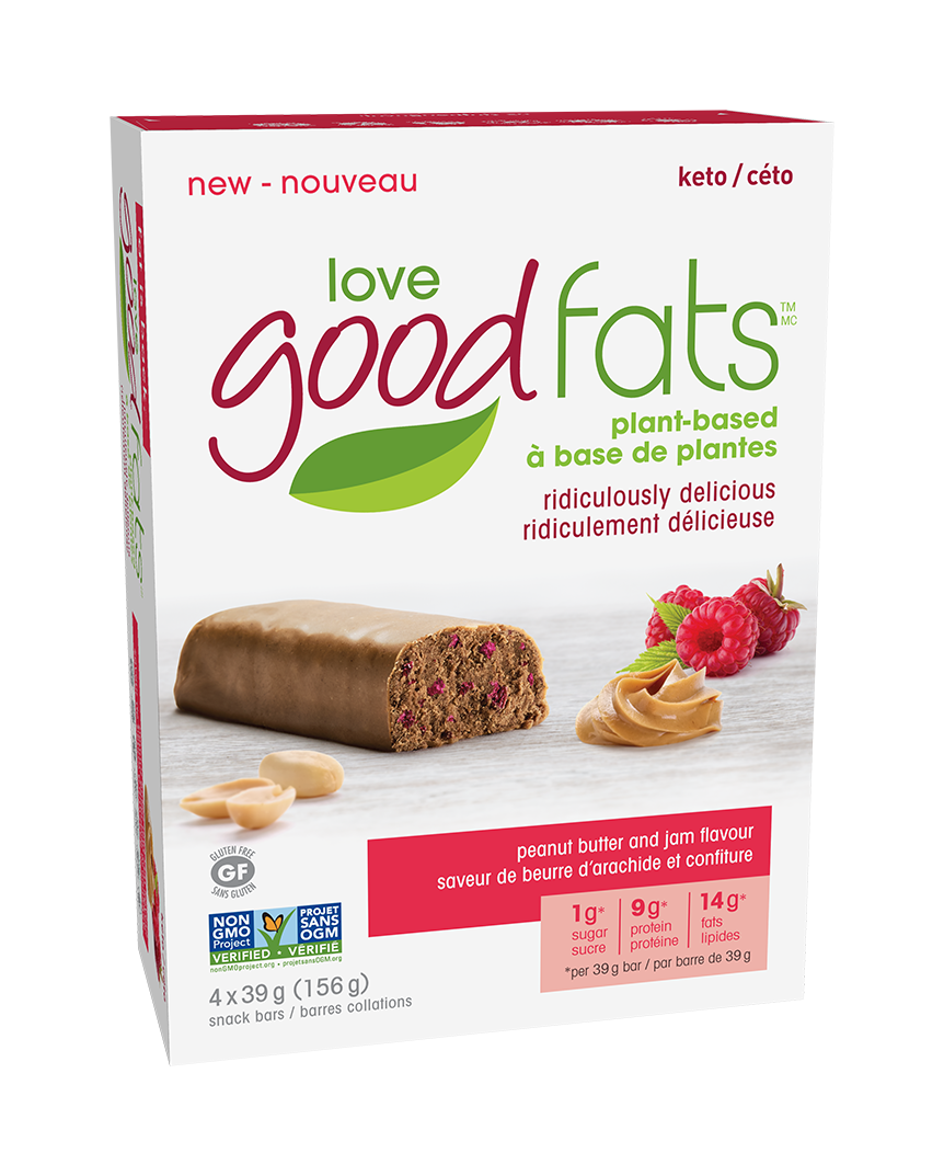 love good fats Plant-Based Keto Bars [4-Pack]