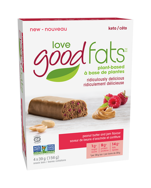 *Discontinuing: love good fats Plant-Based Keto Bars [4-Pack]