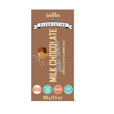 KZ Clean Eating Milk Chocolate Bar Salted Caramel (10 Pack)