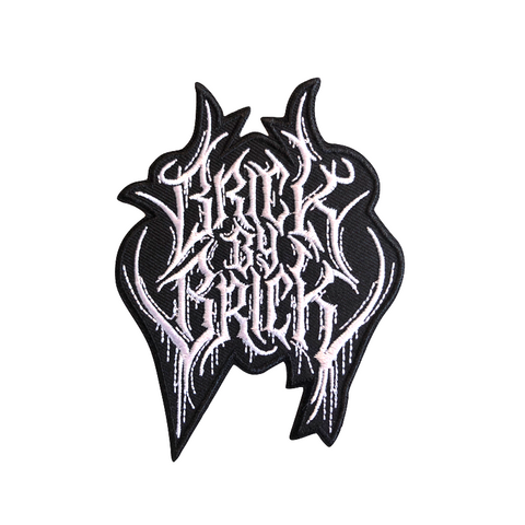 Black Metal Logo Patch
