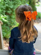 Load image into Gallery viewer, Orange 6 Inch Ribbon Hair Bow