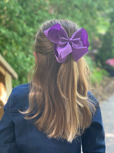 Lavender Purple 6 Inch Hair Bow