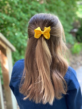 Load image into Gallery viewer, Bright Yellow 3 Inch Ribbon Hair Bow