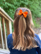 Load image into Gallery viewer, Orange 3 Inch Ribbon Hair Bow