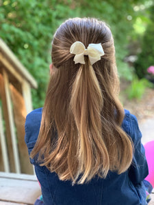 Ivory 3 Inch Hair Bow