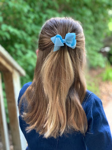 Light Blue 3 Inch Ribbon Hair Bow