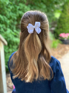 White 3 Inch Hair Bow