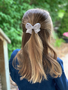 Dove Grey 3 Inch Ribbon Hair Bow