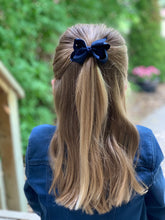 Load image into Gallery viewer, Navy Blue 3 Inch Ribbon Hair Bow