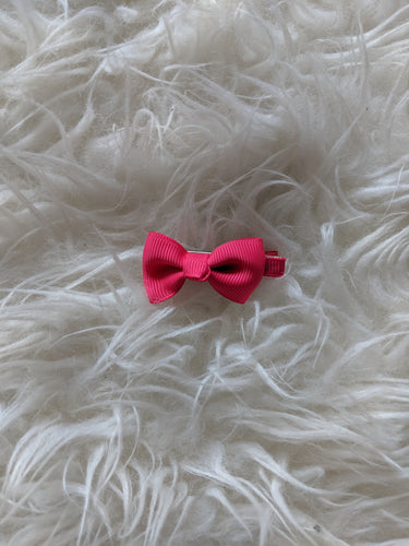 Hot Pink Fuchsia 2 Inch Ribbon Hair Bow