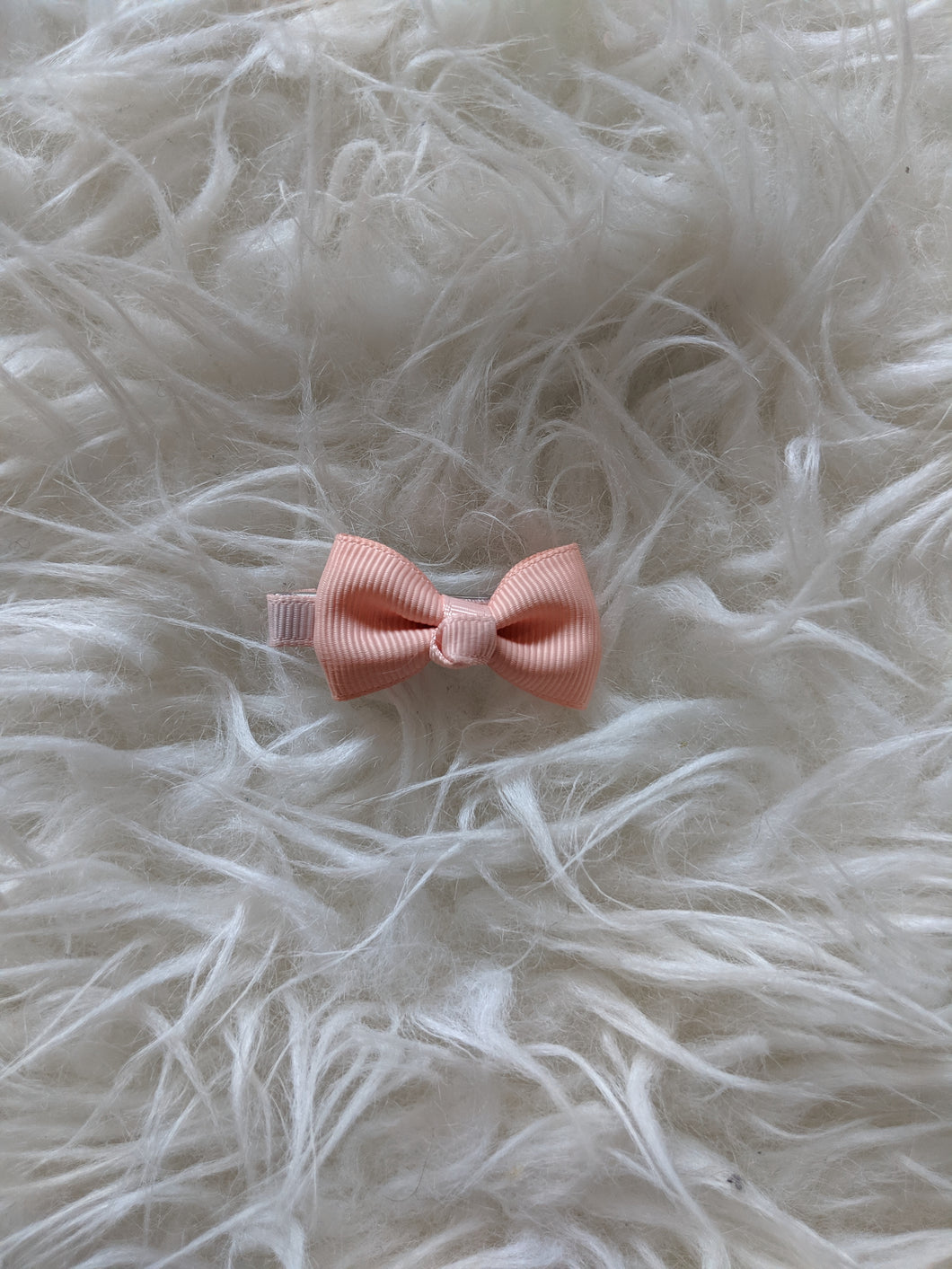 Coral Pink 2 Inch Ribbon Hair Bow
