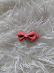 Dark Rose Pink 2 Inch Ribbon Hair Bow