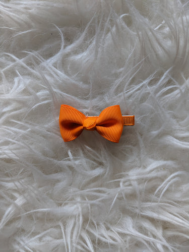 Orange 2 Inch Ribbon Hair Bow
