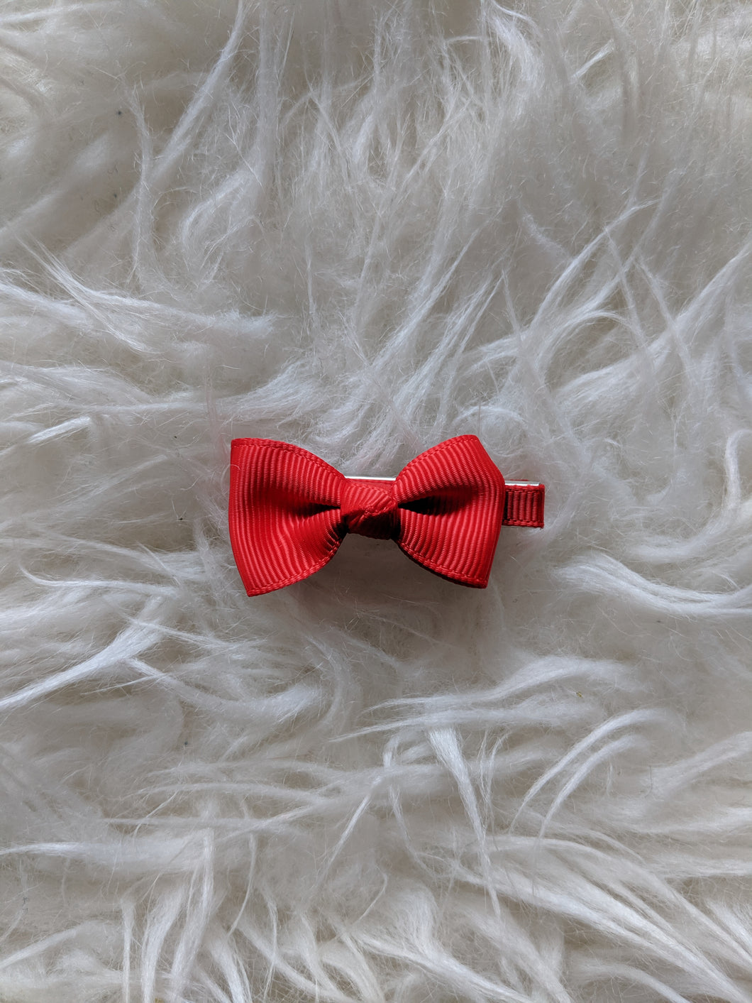 Bright Red 2 Inch Ribbon Hair Bow