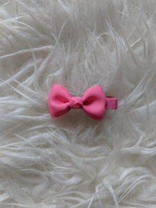 Bright Pink 2 Inch Ribbon Hair Bow