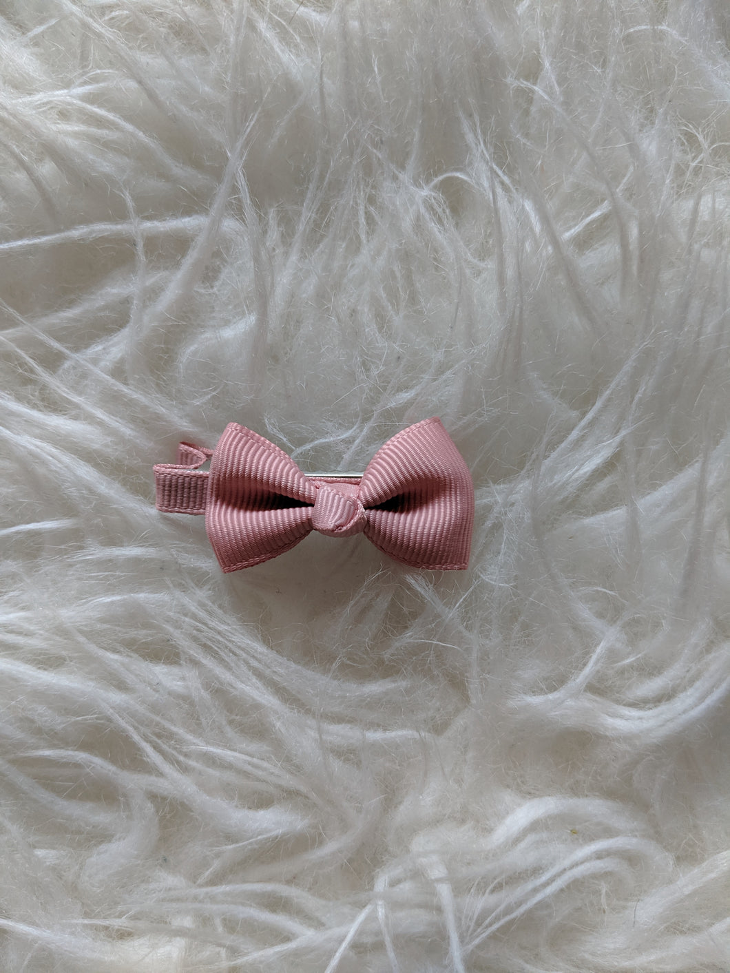 Dusty Rose Pink 2 Inch Ribbon Hair Bow