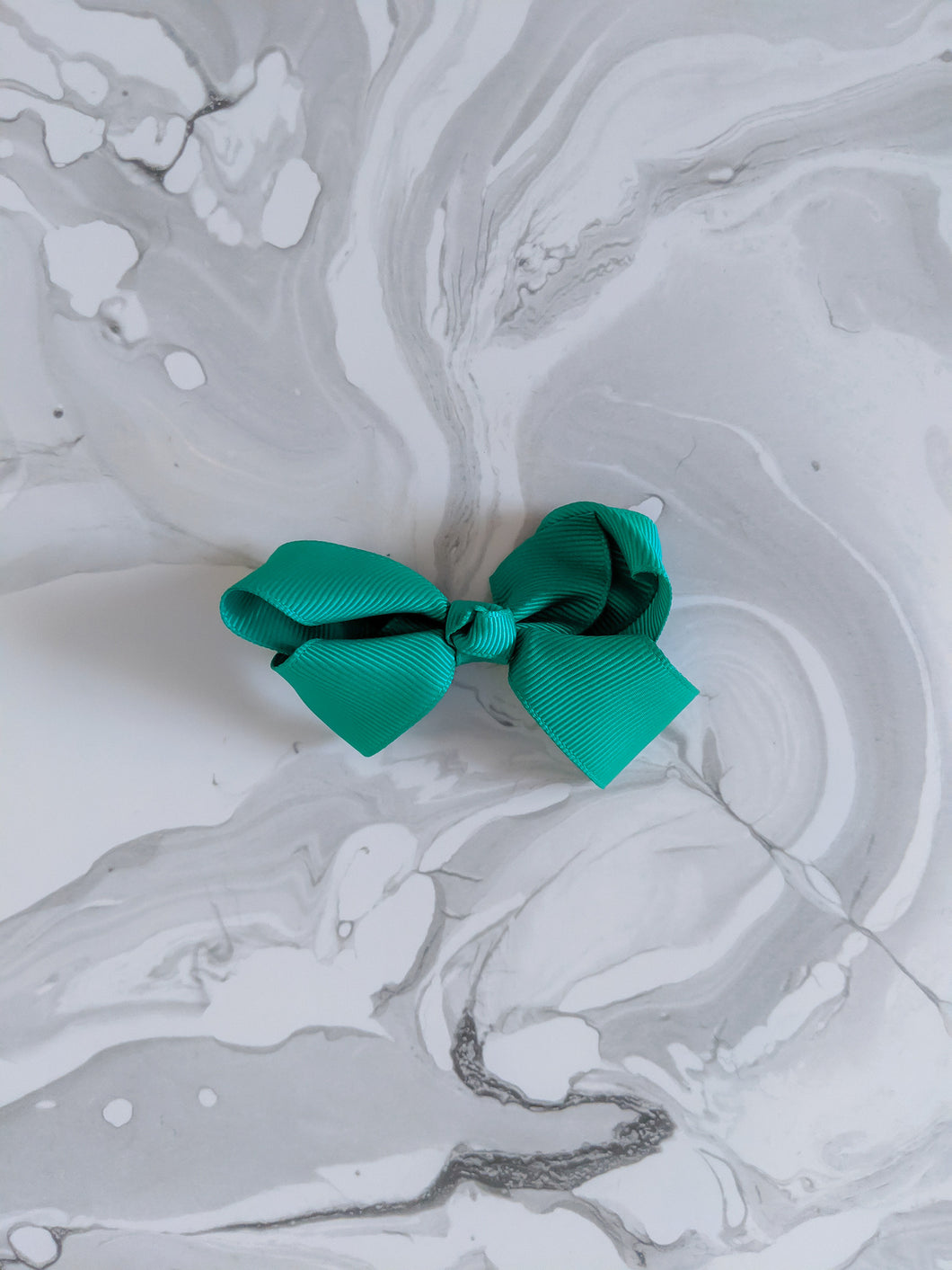 Emerald Green 3 Inch Ribbon Hair Bow