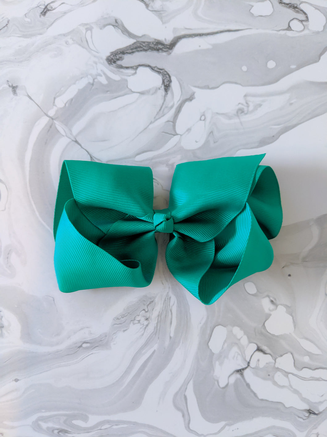 Emerald Green 6 Inch Ribbon Hair Bow