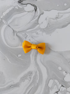 Mustard Yellow 2 Inch Ribbon Hair Bow