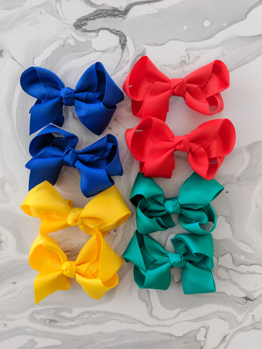 3 Inch Bows Happy Pack - Primary Colours