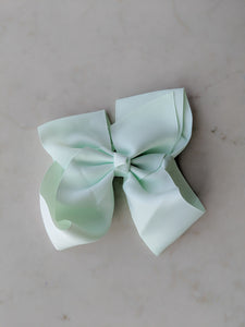 Mint Green 6 Inch Ribbon Hair Bow