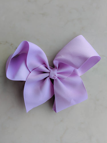 Lilac Light Purple 6 Inch Hair Bow