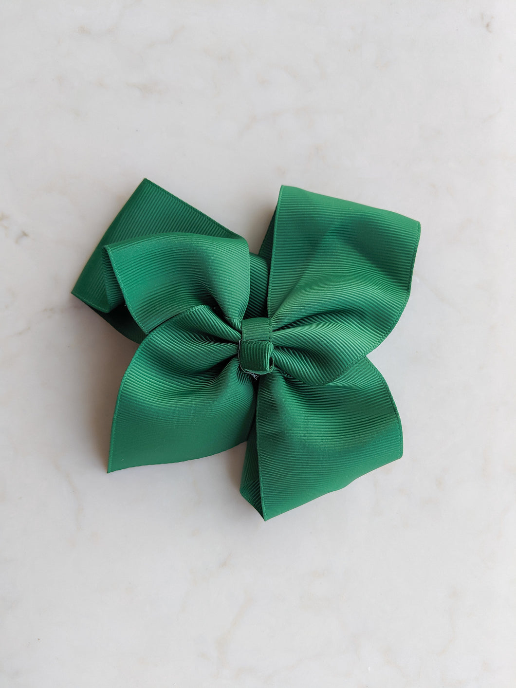 Christmas Green 6 Inch Ribbon Hair Bow
