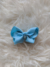 Load image into Gallery viewer, Light Blue 3 Inch Ribbon Hair Bow