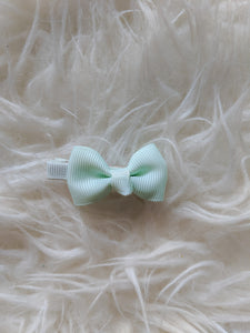 Mint Green 2 Inch Ribbon Hair Bow