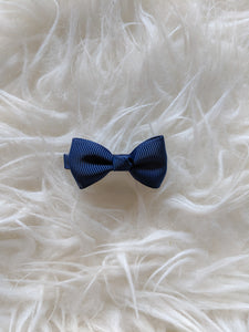Navy Blue 2 Inch Ribbon Hair Bow