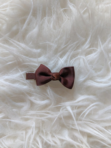 Chocolate Brown 2 Inch Hair Bow
