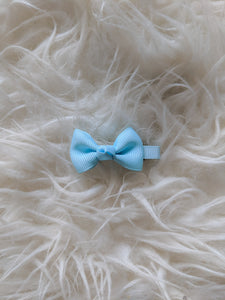 Light Blue 2 Inch Ribbon Hair Bow