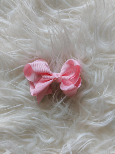 Blush Pink 3 Inch Ribbon Hair Bow