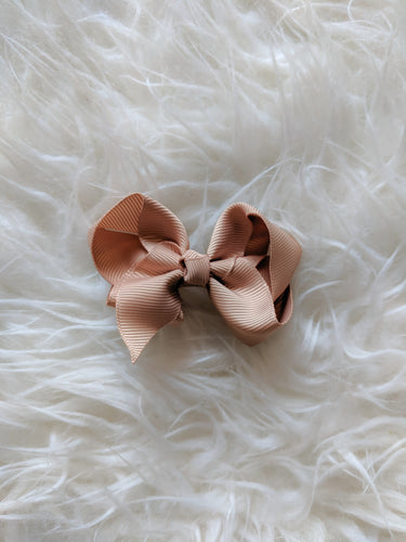 Taupe Brown 3 Inch Hair Bow