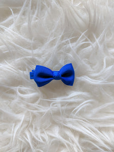 Rich Blue 2 Inch Ribbon Hair Bow