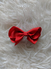 Load image into Gallery viewer, Bright Red 3 Inch Ribbon Hair Bow
