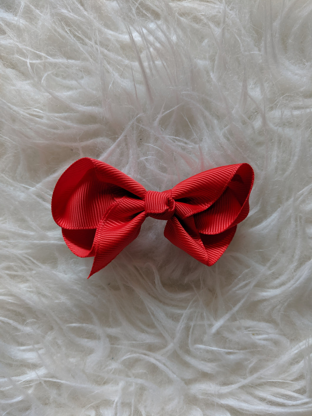 Bright Red 3 Inch Ribbon Hair Bow