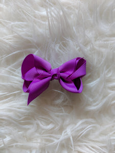 Purple 3 Inch Hair Bow