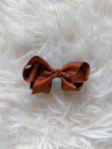 Chocolate Brown 3 Inch Hair Bow
