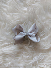 Load image into Gallery viewer, Dove Grey 3 Inch Ribbon Hair Bow