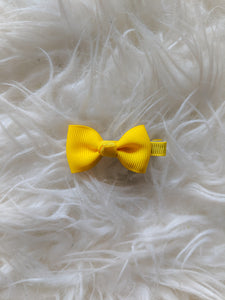 Bright Yellow 2 Inch Hair Bow