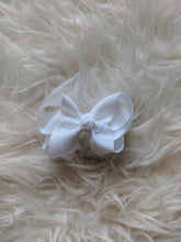 Load image into Gallery viewer, White 3 Inch Hair Bow
