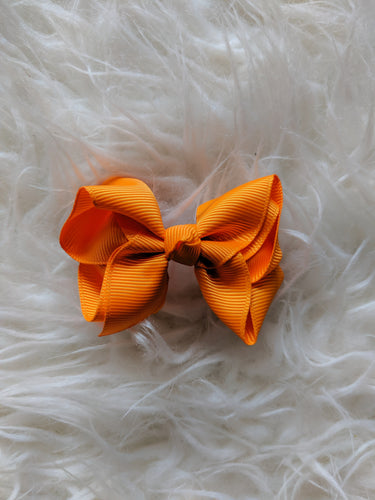 Orange 3 Inch Ribbon Hair Bow