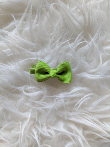 Lime Green 2 Inch Ribbon Hair Bow