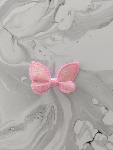 Blush 2 Inch Sequin Hair Bow