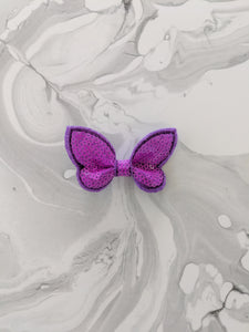 Purple 2-Inch Sequin Hair Bow